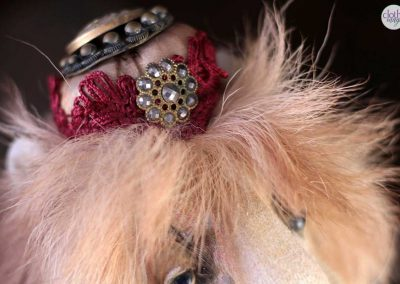 leopold the lion doll - cloth magic crown detail