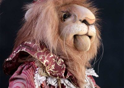 leopold the lion doll - cloth magic featured
