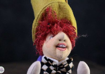 mad hatter doll face detail - cloth magic