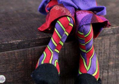 mad hatter doll legs detail - cloth magic