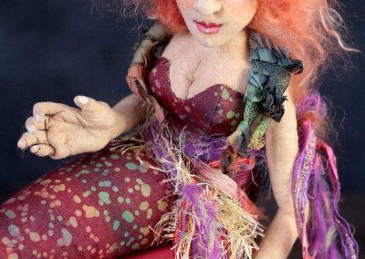 crimson siren art doll torso