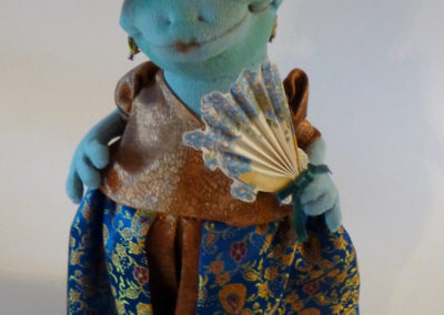 courting frog art doll by karen shifton - 05