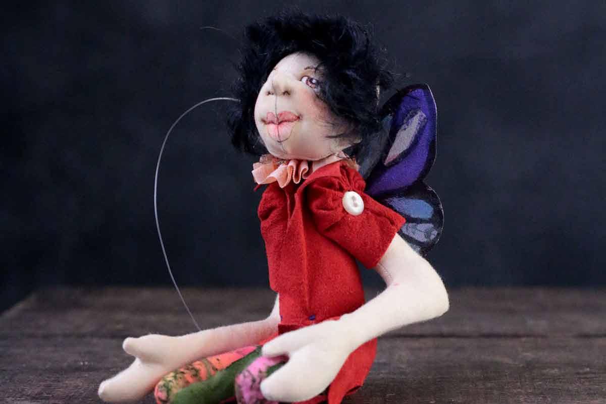 fairy 6 - cloth magic art doll by karen shifton
