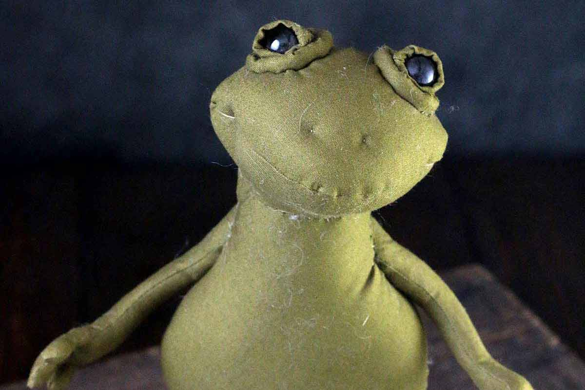 froggy cloth magic art doll by karen shifton