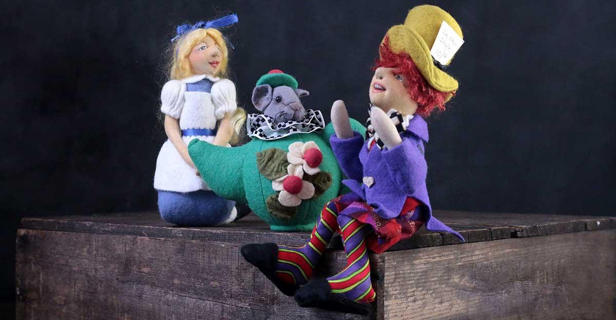 alice in wonderland - cloth magic dolls