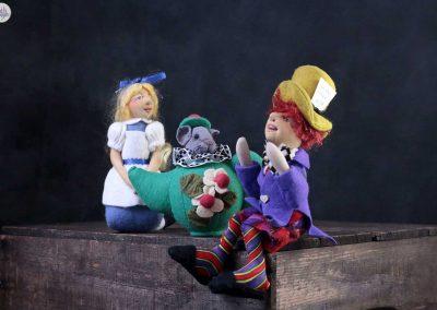 alice in wonderland dolls - cloth magic