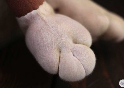 leopold the lion doll - cloth magic paw detail