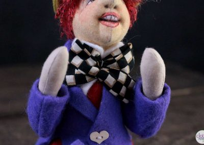 mad hatter doll torso detail - cloth magic