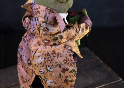 courting frog doll - back - cloth magic