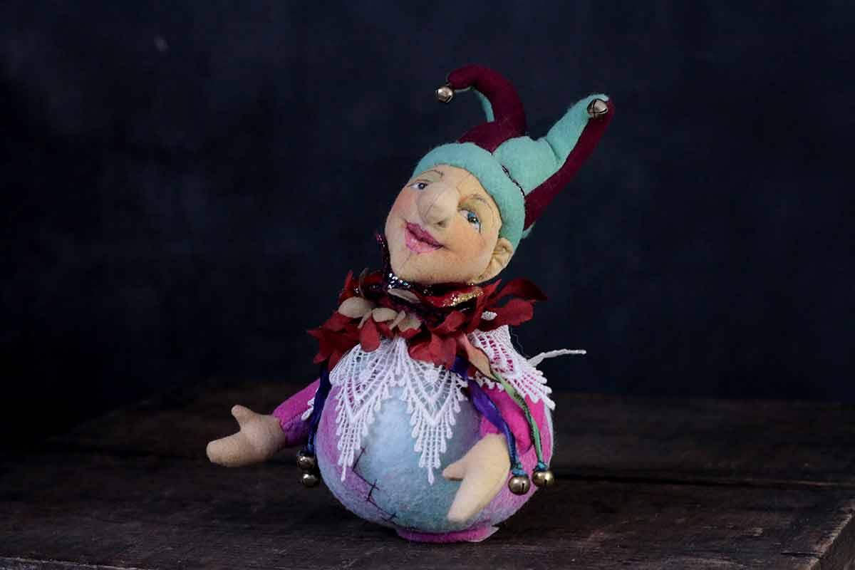 bouffon art doll - cloth magic by karen shifton