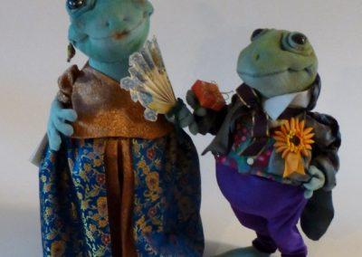 courting frog art doll by karen shifton - 02