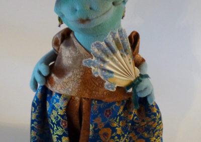 courting frog art doll by karen shifton - 05