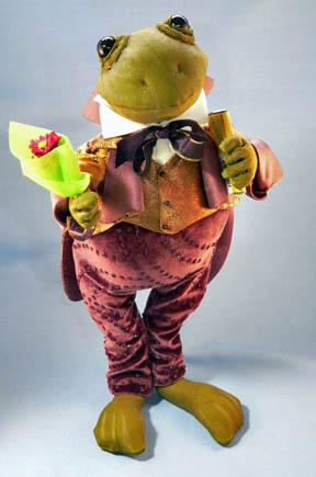 courting frog art doll by karen shifton - 07